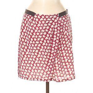 J Crew Silk Faux Wrap Skirt
